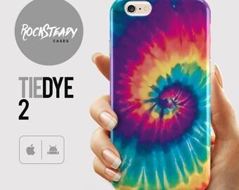 Tie Dye Phone case, iPhone X, 8, 7, 6s Plus, 6, SE, 5S, 5C, Samsung Galaxy S8, S7 Edge, S6, S5, S4 colorful unique rainbow cell phone case