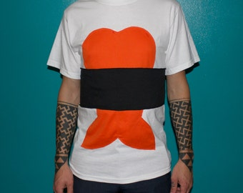unisex shrimp roll sushi tshirt
