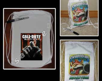 Call of Duty Black Ops 3 Party Favor Goodie Bag Draw String Bag