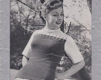 ON SALE Vintage 1940s - Paton's Knitting Pattern No 294 For Women/Ladies - Original Pattern