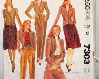 McCall's 7303 Pants,Suite Coat and Skirt Pattern