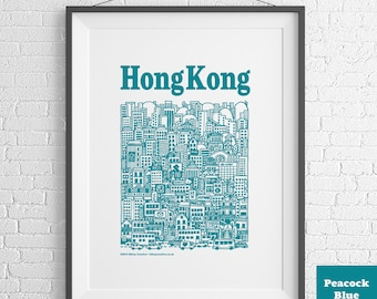Hong Kong Illustrated Screenprint