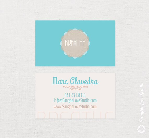 Breathe yoga business card or wellness yoga business card colourmoves Image collections