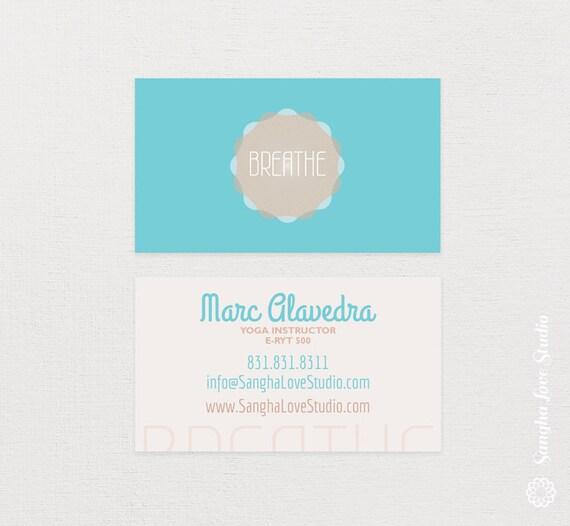 Breathe yoga business card or wellness yoga business card colourmoves