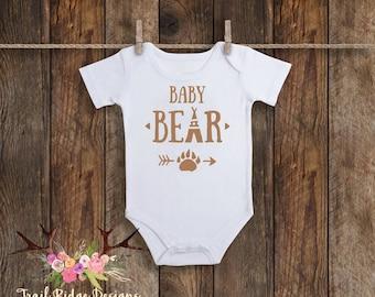 Baby Bear Paw Baby Bodysuit, One Piece Baby Bodysuit