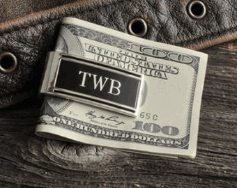 Monogrammed Money Clip  , Personalized Money Clip, Groomsmen Gift, Engraved Money  Clip