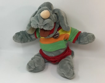 Vintage Wrinkles Dog Talking Puppet 1980s Stuffed Animal Unique Gift Party
