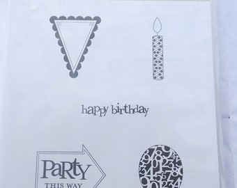 Stampin' Up Party This Way Clear Mount Stamp Set-UNUSED