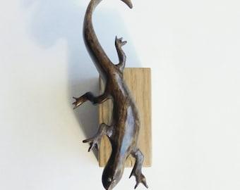 Lizard, Wooden lizard, Wooden Product, Wooden Animals, Handmade, Wooden Gift, Present, Donation, Oblation, Gift, Presentation, Handsel