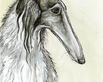 A Little Considerable - Borzoi Hound Dog Art Print