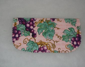 Checkbook Cover  'I Am The Vine'  Grapes One of a Kind  Free shipping within US