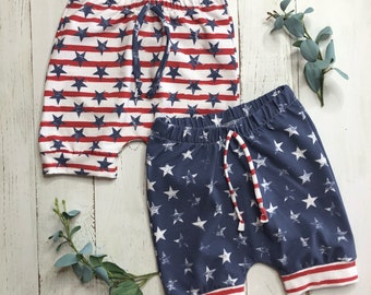 Red, White + Blue Shorts