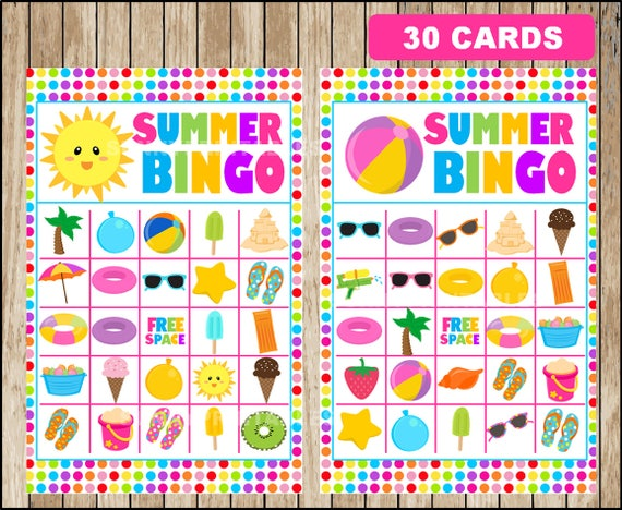 photograph about Printable Bingo Patterns known as 100+ Summer time Bingo Designs yasminroohi