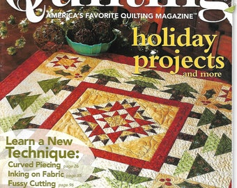 Love of Quilting Magazine November/December 2009, Christmas and Holiday Patterns, Fons & Porter