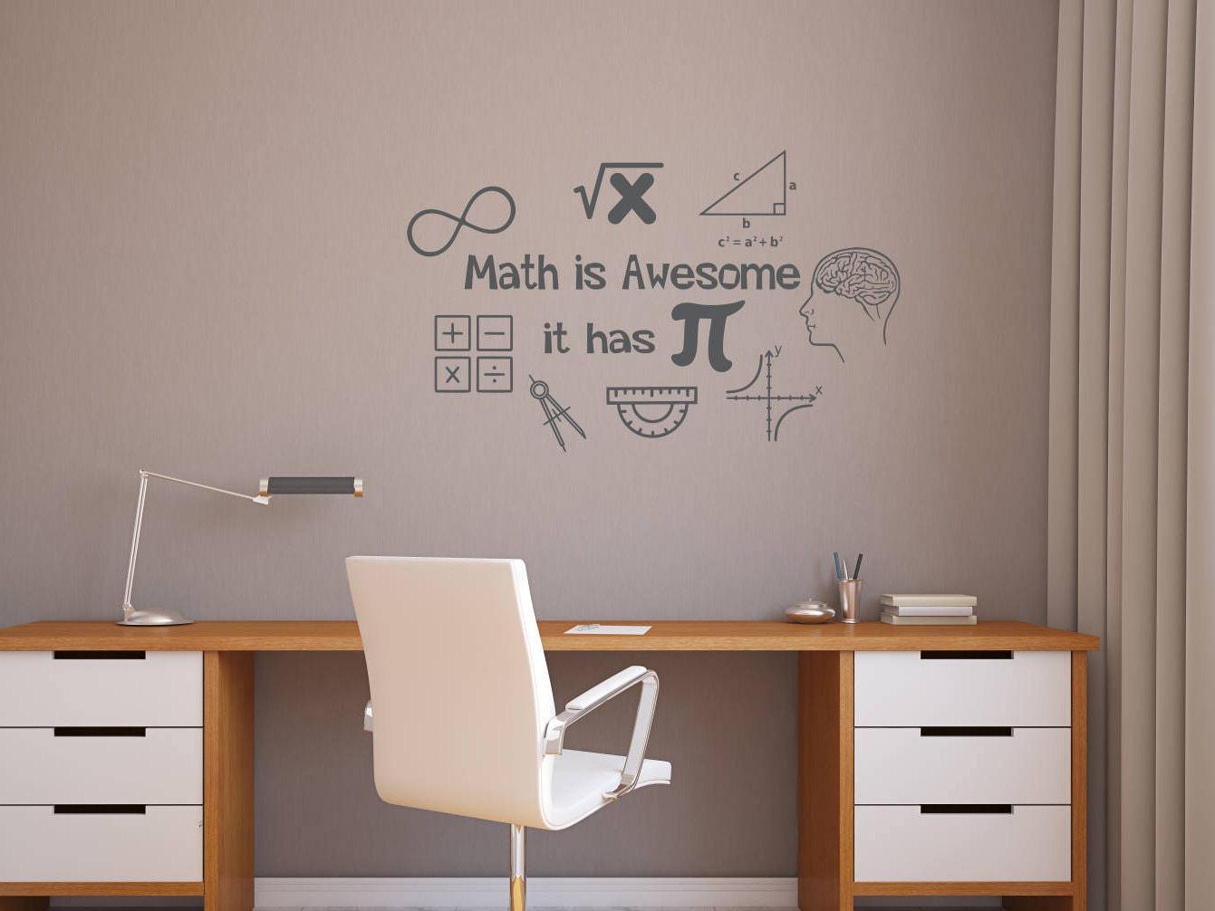math wall decal, math wall decor, math classroom decor ...
