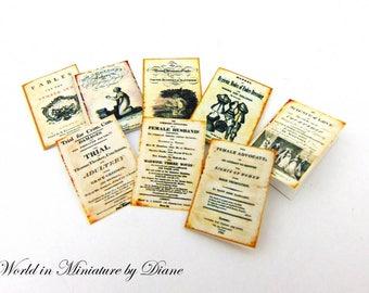 "PDF Dollhouse Victorian News, 1:12 Victorian News Digital Download, Dollhouse Accessories, Dollhouse Victorian, Scale 1"" Miniatures"