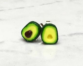 Avocado Stud Earrings