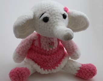 Soft toy elephant Stuffed elephant Amigurumi elephant Cute Elephant plushie Cuddly Elephant Toy