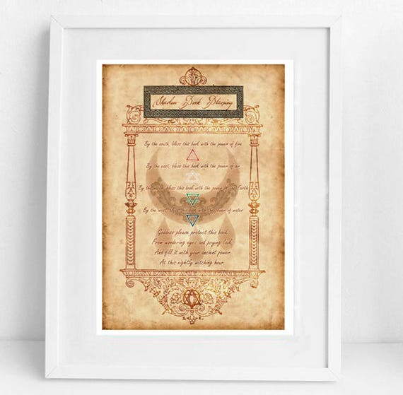 Book of Shadow Blessing . Wiccan Blessing Spell . Magic spell