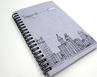 ON SALE was 24 now 18. 2018 Weekly Planner, Agenda, Calendar, Pocket Size, Spiral bound, Planner, Daily Planner, Handmade, Paper-goods