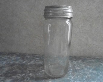 1920's Very Unusual Jelly Jar with Presto Zink Lid