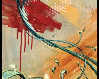 """Qetzal Art Print - Bird Art  - Guatemala - Wall Art - """"Silent Song"""" by Black Ink Art"""