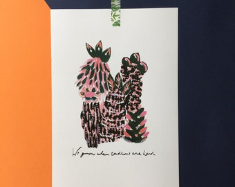 A4 'We grow when conditions are hard' Print