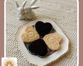 Kids Play Cookies, Children's Play Food, Pretend Cookies, Pretend Biscuits, Crochet Cookies, Crochet Biscuits, Kids Play Food, Crochet Food
