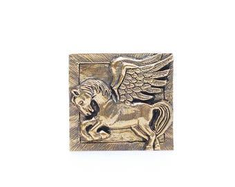 Brass Belt buckle Pegasus