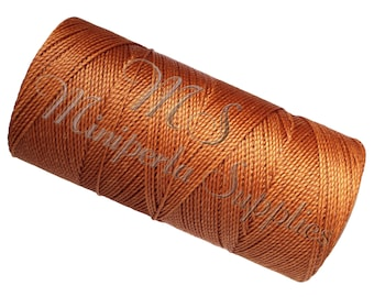 Spool of thread macramé waxed Linhasita - Caramel