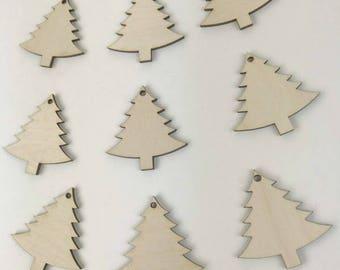 Christmas Tree cutouts, Wooden Christmas trees, Unfinished Wood blanks, Wooden Trees,  Tree Wood blanks, Wood Shapes, Unfinished blanks