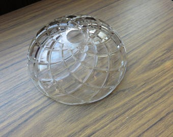 Vintage Chandelier Glass Large Bobeche Cup Part