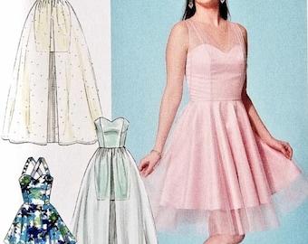 Formal Dress Pattern, Strapless Dress Pattern, Evening Gown Pattern, Sundress Pattern, McCall's Sewing Pattern 7281
