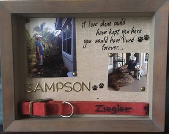 Shadow Box Memorial for Deceased Dog