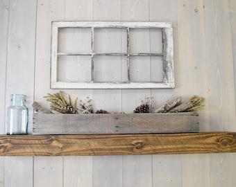 Beam Mantel, Fireplace Mantel, Wood Shelving, Floating Shelves, Floating Mantel, Rustic Shelf, Ledge Shelf, Farmhouse Decor,