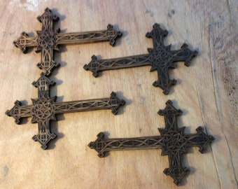 Hand-Carved Wooden Cross