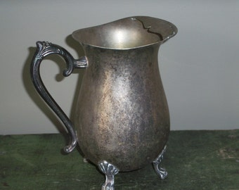 Vintage Leonard Silverplate Large Pitcher
