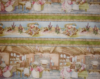 Mrs Tiggy Winkle Beatrix Potter fabric  ( Quilting Treasures ) ( BTHY )