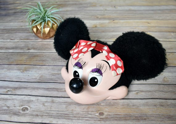 90s minnie mouse snapback hat  mesh disney costume face ears red bow animal 1990s kids adult character mickey mouse girl adjustable