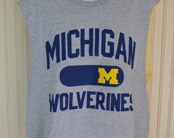 Michigan Wolverines Crochet Mesh Back Tailgate Tee