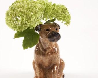 Border Terrier Flower Vase - Large