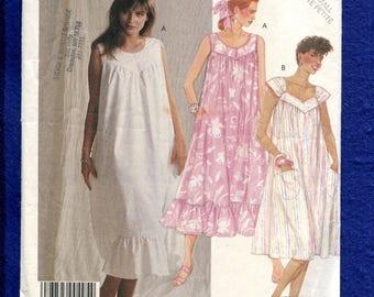 1980's McCalls 3155 Flared Summer Time Muumuu Pattern Size XS 6/8 UNCUT