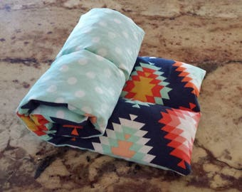 Lavender Infused Large Rice Heating/Cooling Pad, Natural Heating Pad