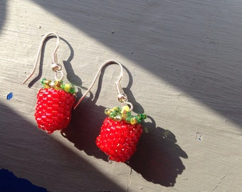 Strawberry Red Berry earrings