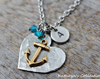 Anchor Necklace, Maritime Jewelry, Nautical Jewelry, In the Ocean, Sailing, Anchor Jewelry