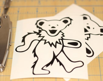 Jerry Garcia sticker | Grateful Dead Jerry bear decal