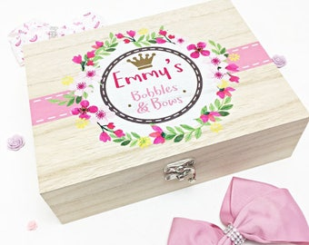 Personalised Bobbles & Bows Box
