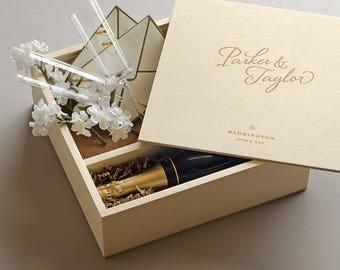 Keepsake Ceremony Wine Box - The Stylist // Wedding Wine Box Ceremony // Love Letter Ceremony