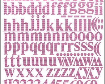 FUCHSIA printed Scrapbooking stickers letters and signs of the alphabet vinyl stickers  for scrapbooking ,cards and gift wrapping