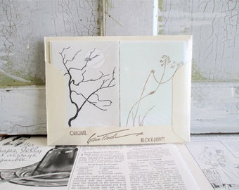 Vintage Gwen Frostic Note Cards and Envelopes - Birds and Trees